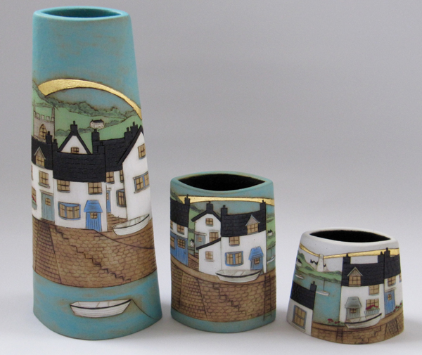 My main ceramic work draws inspiration from the British coastline and wildlife, and I regularly exhibit at a number of galleries around the UK.  I have also been developing new ideas and experimenting with pit firing, and so some of this work will also be on display at Open Studios. My pottery studio is located on the family working farm where I live, in the village of Benwick in the rural Fenland countryside. We will be exhibiting for the final weekend of Open Studios (13th & 14th July) at Venue number TBC in the directory. There will be a range of ceramics and textile work on display, come and look round the studio, and watch the raku and pit-firing experiments (weather permitting).  I will be joined by Andrea Van Kleef (www.thegardenpotter.com) who makes a range of functional ceramics and colourful woven textiles. Also exhibiting here for the first time is Debbie Davis (www.debbieonthebrink.com) who will be showing her beautiful individual handbuilt ceramics.