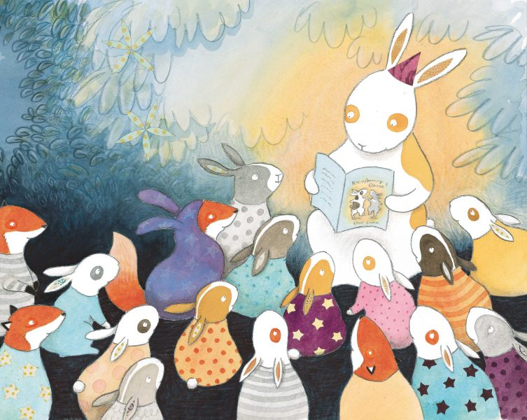 I'm a children's book author and illustrator, currently working on my eighth picture book (my seventh was published in January by Hodder Children's Books). I work predominantly in watercolour, soft pastel and collage, and love to draw animals!  Having spent much of mytime at school doodling covertly on the last pages of myexercise books, Iwent off to do a degree in Graphic Design at Bath Spa University, specialisingin illustration, followed by a Master's degree in Children's Book Illustration at Cambridge School of Art. After graduating in 2007, Ibegan to write and illustrate picture books alongside teaching art classes in a primary school, during which Iinvariably managed to get more paint on myself than the children did!  Now fully freelance, Icreate books and run children's art classes from my studio (see Art Stars), ably assisted by mybasset hound, William.  You can see more of my work on my website, http://www.elliesandall.comor my Facebook page,http://www.facebook.com/EllieSandall