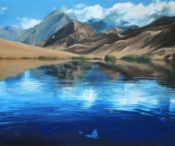 Ann specialises in landscape painting, focusing on light and mood. She concentrates on evocative scenery including forests, water and mountains.  Ann Ardron started painting seriously in her late teens, and has been a professional artist since 2008. Using a range of media, she focuses mainly on landscapes - seeking to capture the essence of a scene, in particular the light and mood.  Much of her work reflects her lifelong enjoyment of walking in the UK countryside, and many paintings show the local landscape in its various moods through out the year. Trees and forests are a frequent subject, often featuring a hint of the path ahead.  Ann's passion for travel is also an inspiration, so the almost bucolic local scenes mingle in her studio with vivid portrayals of tropical seas and more distant scenery. In recent years she has started to focus on water as a subject, concentrating on the details of surface reflections from the unseen landscape above.  Please contact an if you would like to commission a bespoke painting from her.
