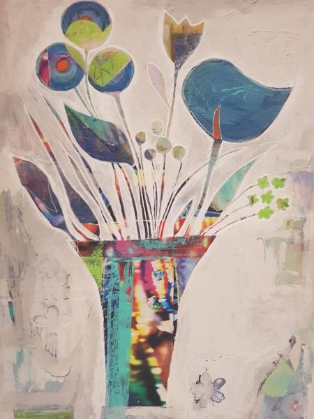 """[caption id=""""attachment_6289"""" align=""""aligncenter"""" width=""""562""""] Mixed Media (Commissioned by The ADHD Foundation, Liverpool)[/caption]  A mixture of new locally inspired pieces alongside my recent award winning work celebrating the gifts/talents of the ADHD community. Varied and purposefully random as ever. My artwork is for sale via my website www.heartwork.co.ukand https://www.artintheheart.co.uk/marketplace/  My featured artwork 'Reigning ADHD' was commissioned by the national charity, The ADHD Foundation.  Limited edition prints are still available (25% proceeds going to the charity).  The artwork was inspired by the 'Umbrella Project' which is an installation created annually in Liverpool (and now Manchester also) to raise awareness surrounding neurodiversity. I was over the moon to have won the charity's 2018 national 'Artist' award.  I am very passionate about the cause behind the ADHD charities as I was diagnosed myself with ADHD in 2009 whilst employed as an Art Teacher. My life has improved significantly since my diagnosis and I rely on my creativity heavily as one of the strategies to keep my ADHD 'symptoms' at bay.  I was one of the first adults in the UK to be diagnosed with the condition and my work has become entwined with reducing the stereotypes and stigma surrounding this most misunderstood of conditions."""