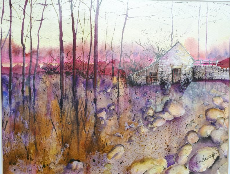I have been painting now for twenty years starting with drawing and then oils and on to watercolour and now mainly mixed media. In love with the natural surroundings, mostly landscapes, especially trees, my recent paintings are predominantly trees in different forms.Painted in an impressionistic style, I like colour and atmosphere.  Do come and see my new work.