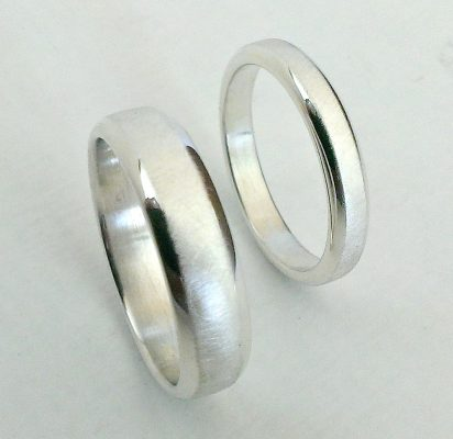 Sterling, Silver, Wedding, Rings, Bands, Hallmarked, His, Hers, Matching