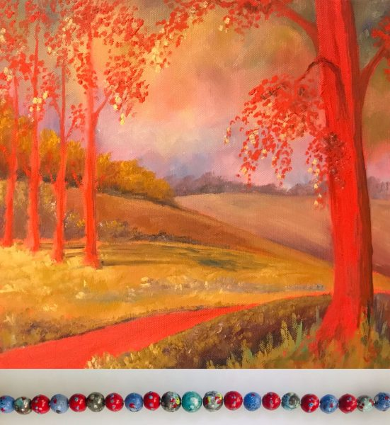Artist's View  An adventure in paintings and fine ceramic bead jewellery inspired by our natural landscapes and ancient symbols.