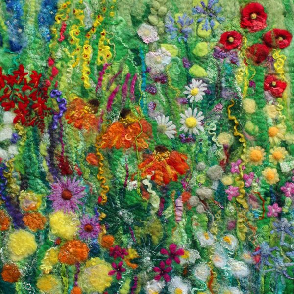 I am a full-time Artisan Felter & Teacher and am inspired by the countryside and my wacky brain. I create felted art pieces that are colourful and full of texture.