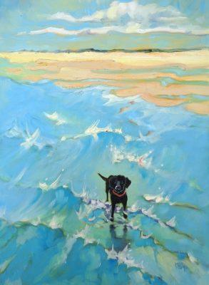 mary kemp black labrador painting