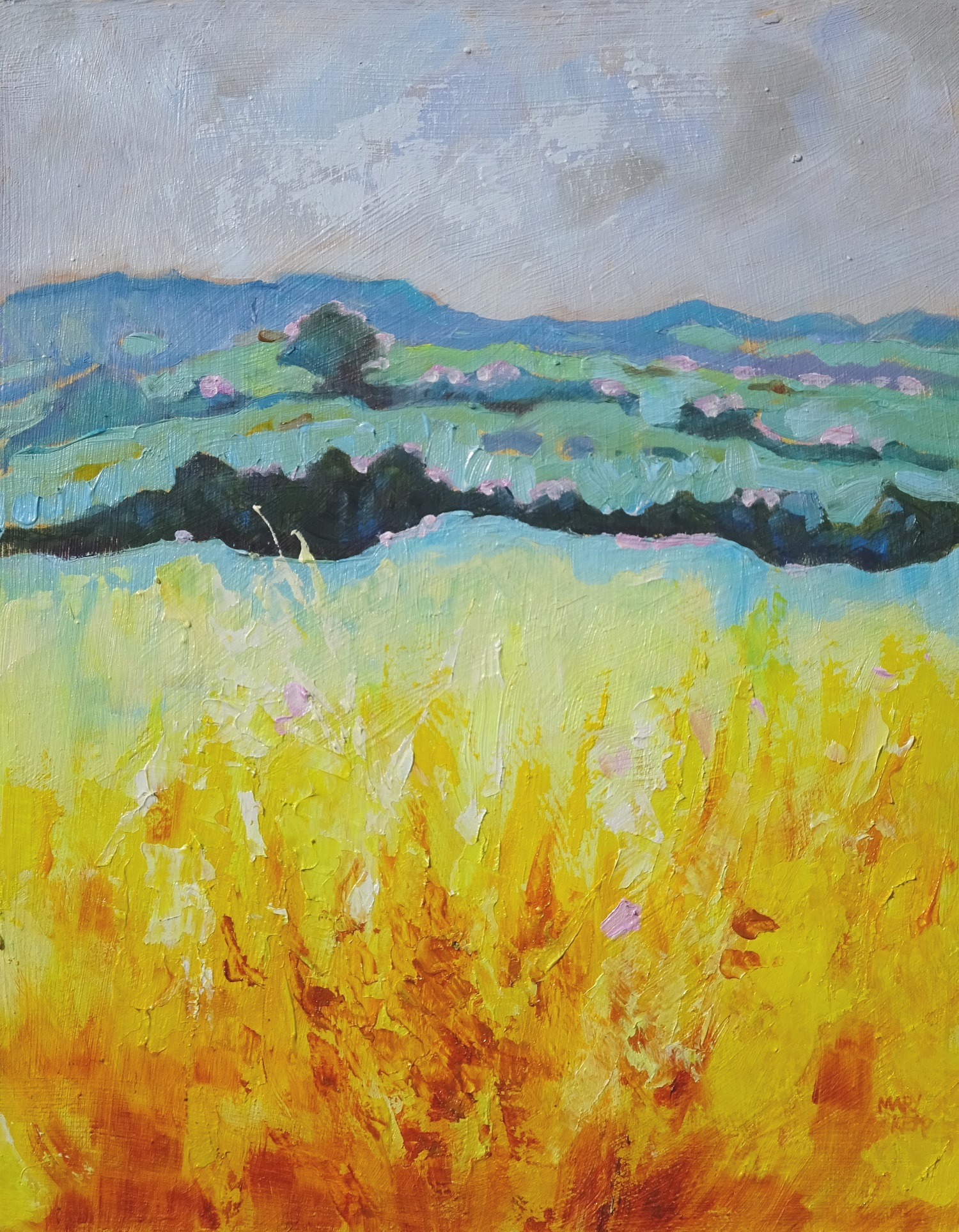 Mary Kemp. Yellow Fields.