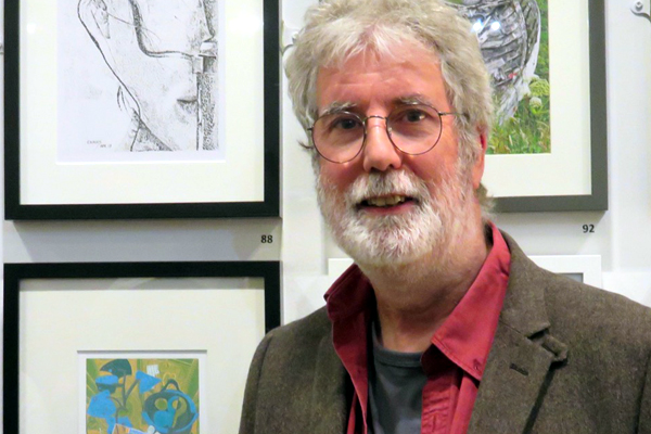 """15 April - 20 May  Large Gallery    At Kettering Museum and Art Gallery we recognise the number of artists wanting to exhibit at the Alfred East Art Gallery and the motivation and inspiration that drives artists, young and old, to get involved in our diverse exhibitions.  For one year only we have decided to adapt our 'Open' exhibition to allow more participation from all artists; this will enable us to support more talent in the region and allow us to create an affordable art exhibition for everyone!  Congratualtions to PAOS artist John McGowan, whose works are included in the exhibition, one of John's prints has won theAtelier Print prize.  [caption id=""""attachment_3229"""" align=""""alignleft"""" width=""""431""""] """"Atelier Print"""" prizewinner John McGowan with """"Pablo's Pears"""" at the Alfred East Gallery 2017[/caption]    About Kettering Art Gallery:  Local artist, Alfred East, wanted to make art accessible to Kettering workers and created a strong stimulus for a public gallery to be built. He shared ideas with philanthropist, Andrew Carnegie, who gifted a library to Kettering in 1904 to give the working man the opportunity for self-development.  The Collection was started when 'The Connoisseur', a portrait by W B Gash, of a wellknown local antique dealer, was purchased by local subscribers and presented to the town as a possible foundation for a permanent art collection.  In 1910, East received a knighthood in the King's Birthday Honours List. This was celebrated with a banquet at the Royal Hotel, Kettering. At this celebration East presented the town with the painting, Midland Meadows, which initially hung in the Public Library for three years.  The town soon accepted a much larger gift by East, a collection of seventy of his best works. The condition of the gift was that the town should build a purpose-built gallery to house this body of work.  Funded by public subscription, the Alfred East Art Gallery was officially opened on 31st July, 1913, by Earl Spencer, K.G., Lord Lieute"""