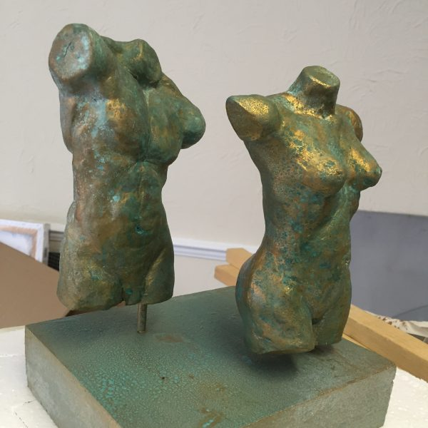 I create figurative sculptures that celebrates the strength and diversity of human spirit, sometimes looking