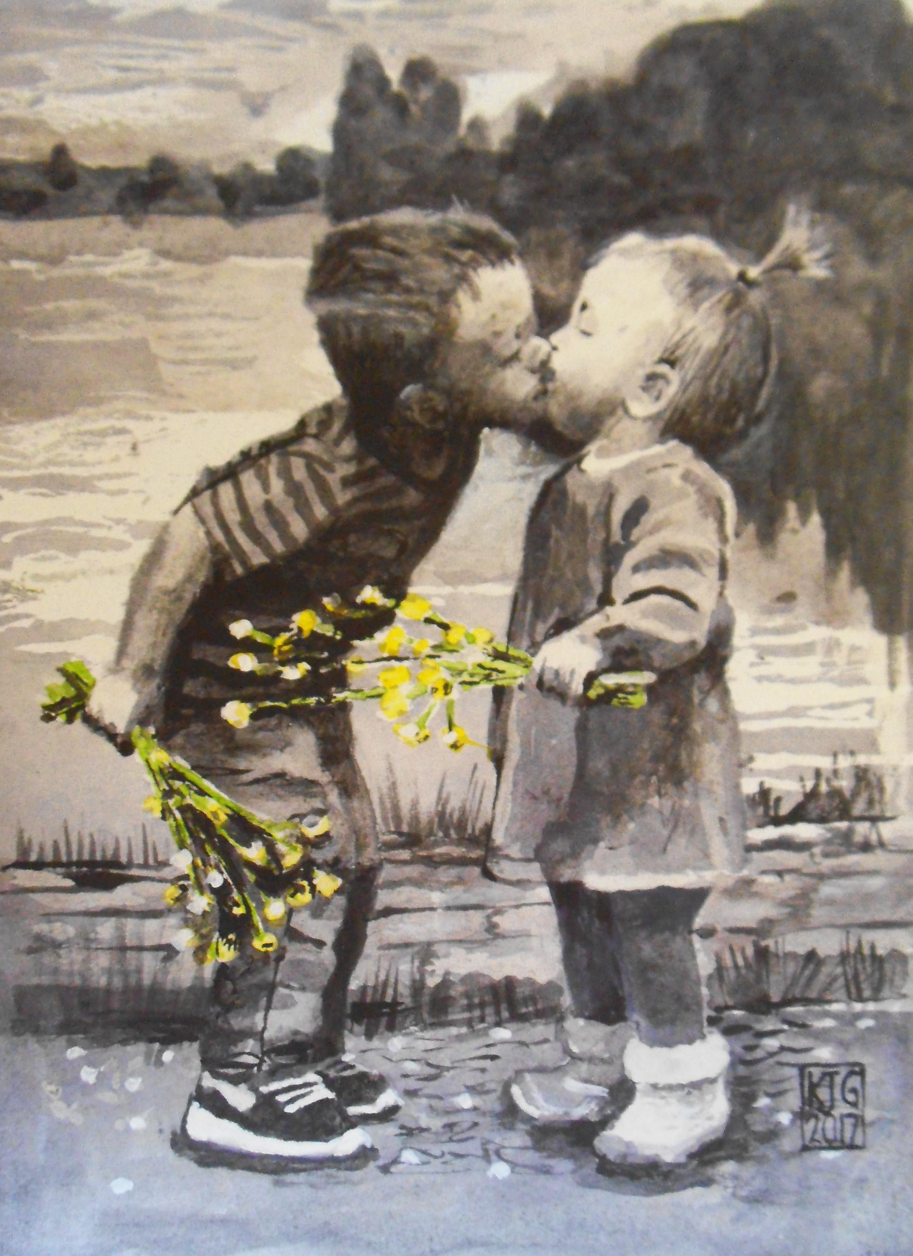 child portrait-child painting.karenjanegreen.artist