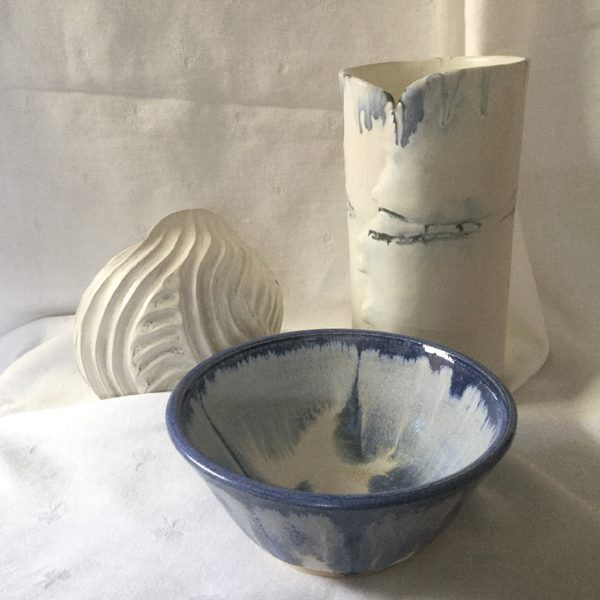I love the versatility of clay and use many methods for my work, from hand building to thrown pots and the challenge of achieving the right glaze for each piece.