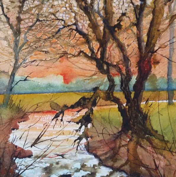 I have been painting now for twenty years starting with drawing and then oils and on to watercolour and now mainly mixed media.