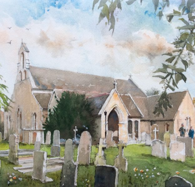 Phil paints mainly landscapes, townscapes and seascapes in watercolour. He has sold many pictures both in the U.K. and overseas, mainly in the Middle East, The Caribbean and France.