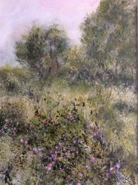 Drawing inspiration in the countryside around me I paint in a loose, impressionistic style.