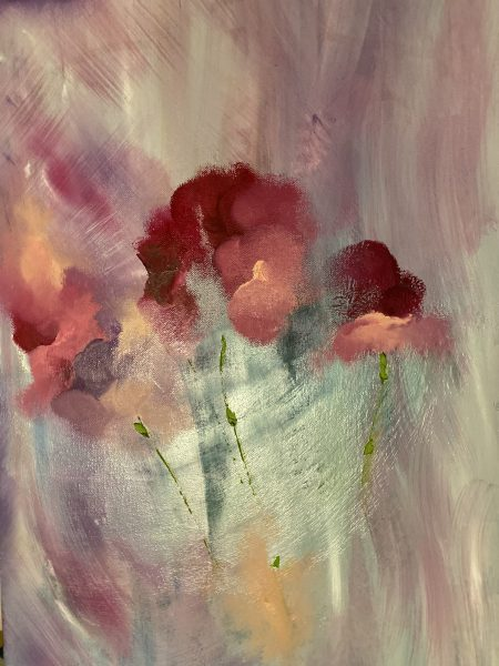 My work is mainly abstract, mixed media - Landscape, Flowers, Animals, the Skies; Also, Flight, humanity, and the environment, are passionate subjects.
