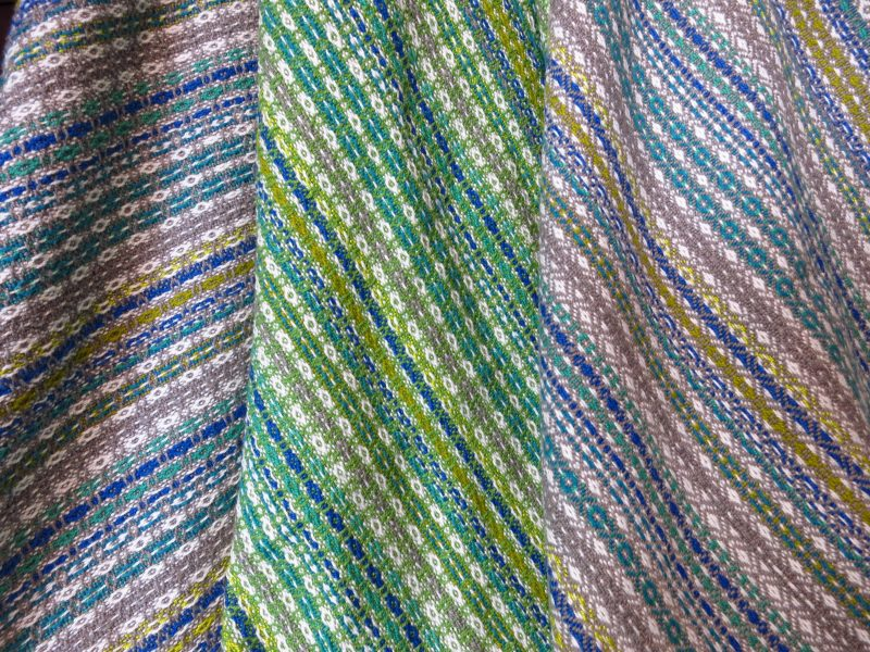 Through my handwoven textiles I explore colour, texture and technique to create a variety of finished pieces for home and to wear.