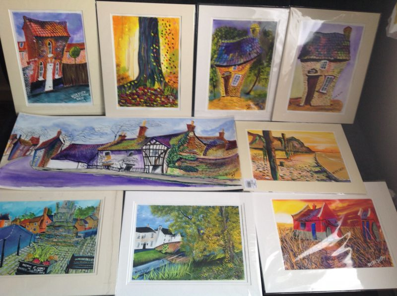Pete Scott bespoke water colourist producer of Wonky Paintings, my commission are mainly of memories, places that means the world to you . Your house, the place you got married or other memorable location.