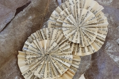origami paper brooch made from old book
