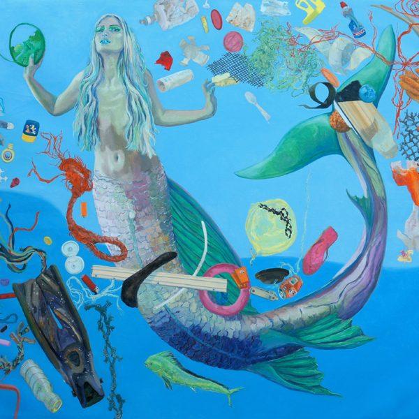 James Tovey artist mermaid and #oceanplastic 2018