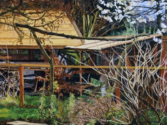 Torii, Plum Blossom, Boatshed. James Tovey 2016