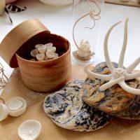 Kathryn Parsons, hand modelled porcelain, vintage boxes & found materials