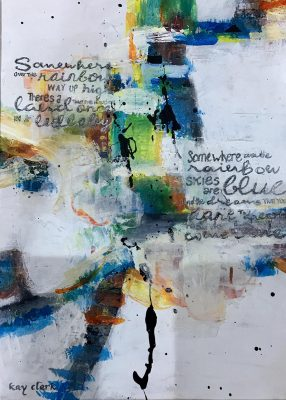 Mixed Media, Watercolour, Abstract, colourful, Hope, Handcrafted, Calligraphy