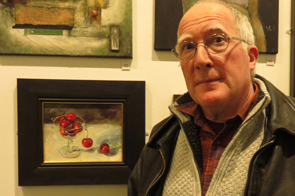 """AN EXHIBITION OF PAINTINGS AND PRINTS BY TWO PETERBOROUGH ARTISTS  At Stamford Arts Centre Gallery, 27 St Mary's, PE9 2DL  Sat. 25th June – Weds 13th July, 09.30 – 21.00  Jerome is a fine art graduate of Wimbledon School of Art where he studied painting and printmaking. He taught Art for 40 years. His work has won prizes in national exhibitions. Jerome paints in oils. His main themes seek to capture the effects of light; reflection and transparency predominate, often in innocuous still life subject matter and landscape. www.jeromehunt.com  John has been making prints for the past 50 years and taught printmaking for nearly 40 of them. Recent series have included prints of the recently decommissioned local Signal Boxes, Northborough Buildings, Venetian Scenes, Northampton Canals and """"The Rotherhithe Suite"""", which has been acquired by the Museum of London. www.johnmcgowanprintmaker.co.uk  [caption id=""""attachment_1646"""" align=""""alignleft"""" width=""""400""""] Jerome Hunt[/caption]  [caption id=""""attachment_1647"""" align=""""alignleft"""" width=""""400""""] John Mcgowan[/caption]"""