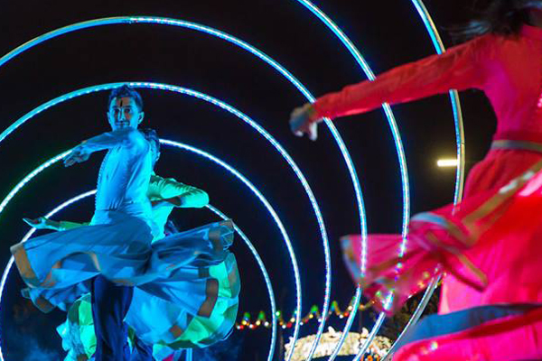 """As part of Peterborough's Diwali celebrations, Phizzical Productions presents Circle of Light. [caption id=""""attachment_2221"""" align=""""alignnone"""" width=""""960""""] Diwali Vivacity Arts Peterborough[/caption] A spectacular visual arts experience inspired by the stories in the Ramayana. The Circle of Light is an explosion of light, colour and dance which will be performed on stage in Peterborough's Cathedral Square on the evening of Saturday 22 October. With choreography by Subhash Viman, the production blends urban, contemporary and classical Indian dance forms and involves a cast of dancers and actors sourced from the local area. Live music fusing traditional Indian instruments such as the tabla and sita and western instruments, composed by Devesh Sodha, will accompany the performance.   https://www.vivacity-peterborough.com/"""