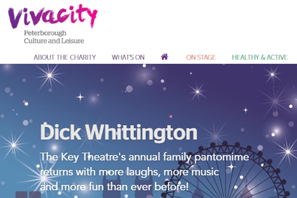 - Peterborough's Sports, Arts, Culture, Theatre, Leisure and Museum's organisation Vivacity has just updated and launched their new look website. a cleaner and more mobile friendly version of their web portal now offers easier navigation and clearer content. You can also get your Vivacity card from the homepage: https://www.vivacity-peterborough.com/ The Vivacity card gives you discounts off the Lido, Flag Fen and Long Thorpe Tower as well as out of hours access to the library; and is free!    Some information has been added to the Arts and Heritage pages and we are looking forward to a more comprehensive update of whats on at the City Gallery.