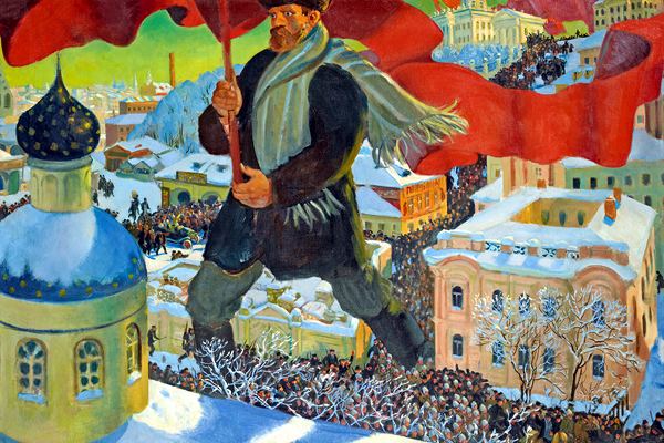 """In seperate exhibitions, art from two of the 20th Cenuary's great superpowers are explored at the Royal Academy during 2017 Revolution: Russian Art 1917–1932 11 February — 17 April 2017  One hundred years on from the Russian Revolution, this powerful exhibition explores one of the most momentous periods in modern world history through the lens of its groundbreaking art.  Renowned artists including Kandinsky, Malevich, Chagall and Rodchenko were among those to live through the fateful events of 1917, which ended centuries of Tsarist rule and shook Russian society to its foundations.Amidst the tumult, the arts initially thrived as debates swirled over what form a new """"people's"""" art should take. But the optimism was not to last: by the end of 1932, Stalin's brutal suppression had drawn the curtain down on creative freedom.Taking inspiration from a remarkable exhibition shown in Russia just before Stalin's clampdown, we will mark the historic centenary by focusing on the 15-year period between 1917 and 1932 when possibilities seemed limitless and Russian art flourished across every medium.This far-ranging exhibition will – for the first time – survey the entire artistic landscape of post-Revolutionary Russia, encompassing Kandinsky's boldly innovative compositions, the dynamic abstractions of Malevich and the Suprematists, and the emergence of Socialist Realism, which would come to define Communist art as the only style accepted by the regime.   America after the Fall: Painting in the 1930s 25 February — 4 June 2017   The art of 1930s America tells the story of a nation in flux. Artists responded to rapid social change and economic anxiety with some of the 20th century's most powerful art - brought together now in this once-in-a-generation show.  These 45 truly iconic works paint an electrifying portrait of this transformative period. These are works which have rarely been seen together, by artists ranging from Jackson Pollock, Georgia O'Keeffe and Edward Hopper to Thom"""