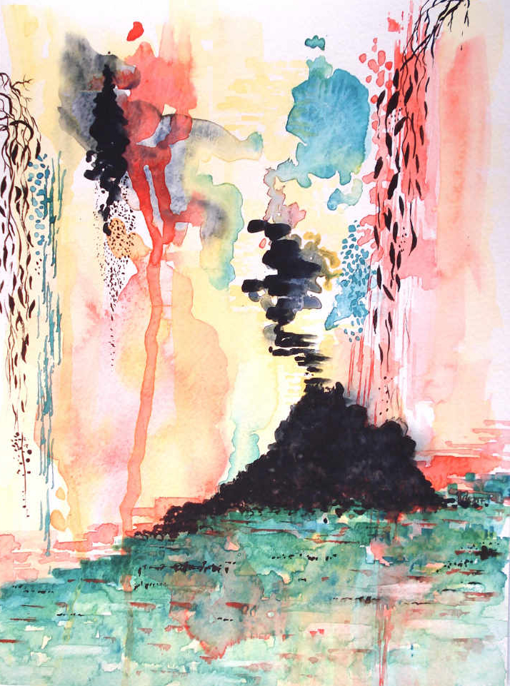 'Eruption' Original Watercolour Painting