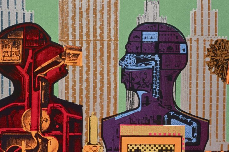 Eduardo Paolozzi (1924-2005) was one of the most innovative and irreverent artists of the 20thcentury. Considered the 'godfather of Pop Art', his collages, sculptures and prints challenged artistic convention, from the 1950s through to the Swinging Sixties and advent of 'Cool Britannia' in the 1990s.  This major Eduardo Paolozzi retrospectivespans five decades and features over 250 works; from the artist's post-War bronzes, revolutionary screen-prints and collages, to his bold textiles and fashion designs.  Alongside Paolozzi'searly brutalist concrete sculptures, highlights include material from his groundbreaking performance lectureBunk! (1952),his large-scaleWhitworth Tapestry (1967) and the iconic sculpture Diana as an Engine (1963).  The Exhibition is on from the 16th Febuary until the 14th May 2017  http://www.whitechapelgallery.org/exhibitions/eduardo-paolozzi/   Eduardo Paolozzi (1924–2005) was one of Britain's most influential post-war artists. Hereceived many national and international accolades – from being chosen to exhibit in the British Pavilion at the Venice Biennale (1952, 1954, 1960, 1964, 1968) and documenta (1959, 1964, 1968, 1977), to being decorated with a Knighthood in 1989 following his appointment as Her Majesty's Sculptor in Ordinary for Scotland. His works are collected in international institutions from Tate in London to Berlin's Nationalgalerie and the Museum of Modern Art in New York.    Paolozzi played a significant role in art education, holding posts as Tutor for Textile Design at the Central School of Arts and Crafts in London (1949 – 1955); visiting Professor at the Hamburg Hochschule für Bildende Künste (1960 -1962); Tutor for Ceramics at the Royal College of Art (1968 -1989); Lecturer for Ceramics at the Fachhochschule Cologne (1977 – 1981); and finally as Professor for Sculpture at the Academy of Arts in Munich (1981 – 1991).