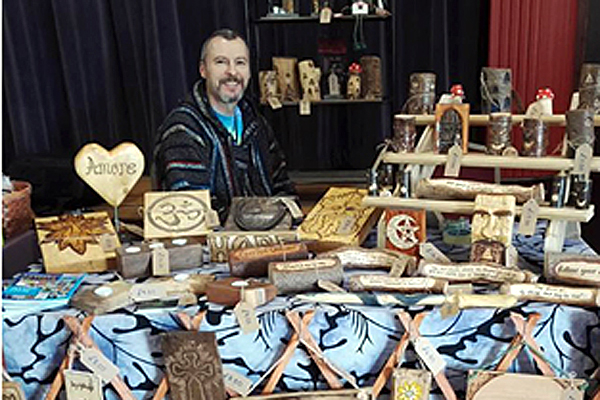My fifth and last interview is with local craftsman Jonathan Clynch, who creates unique ornaments and curios.  Under the name 'Jack in the Green,' Jonathan produces all of his work from recycled wood and responsibly sourced sundry materials.