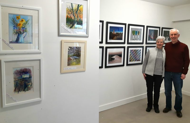 Jean Edwards, water colour artist and Paul Saunders, photographer, are exhibiting their work at the newly fitted out Vivacity space in Queensgate Shopping Centre, Peterborough.