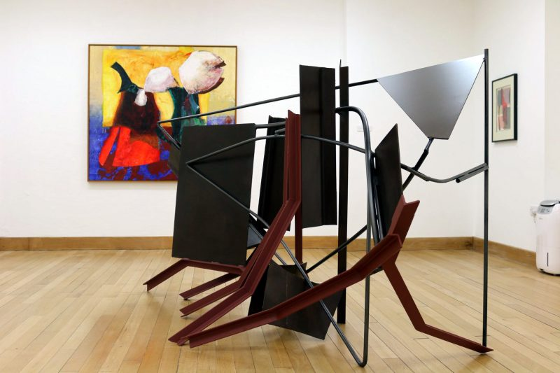 Anthony Caro and Sheila Girling exhibiting together in Peterborough Museum and Art Gallery 2018