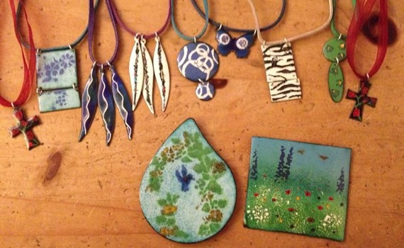 Learn how to create your own beautiful enamel jewellery in a special one-day workshop run by Vivacity.