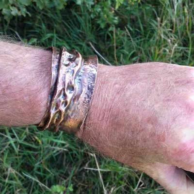 Upcycled Copper Cuff LUNAR by Shalini Austin