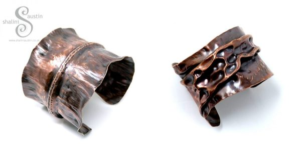 Upcycled Copper Cuffs by Shalini Austin
