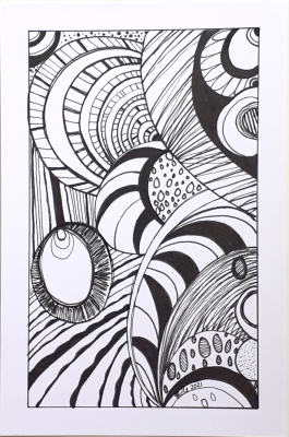 'Pattern Trance' Original Ink Drawing by Stacey-Ann Cole