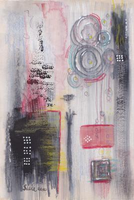 'Pendulum' Original Mixed Media Artwork by Stacey-Ann Cole