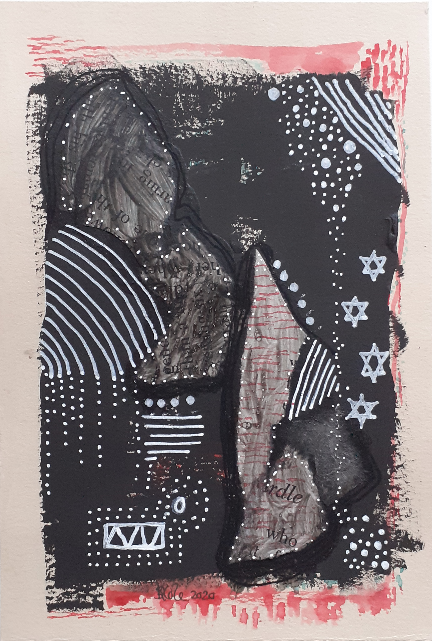 'Star System' Mixed Media Artwork by Stacey-Ann Cole